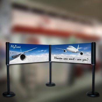 Werbesysteme Barriere