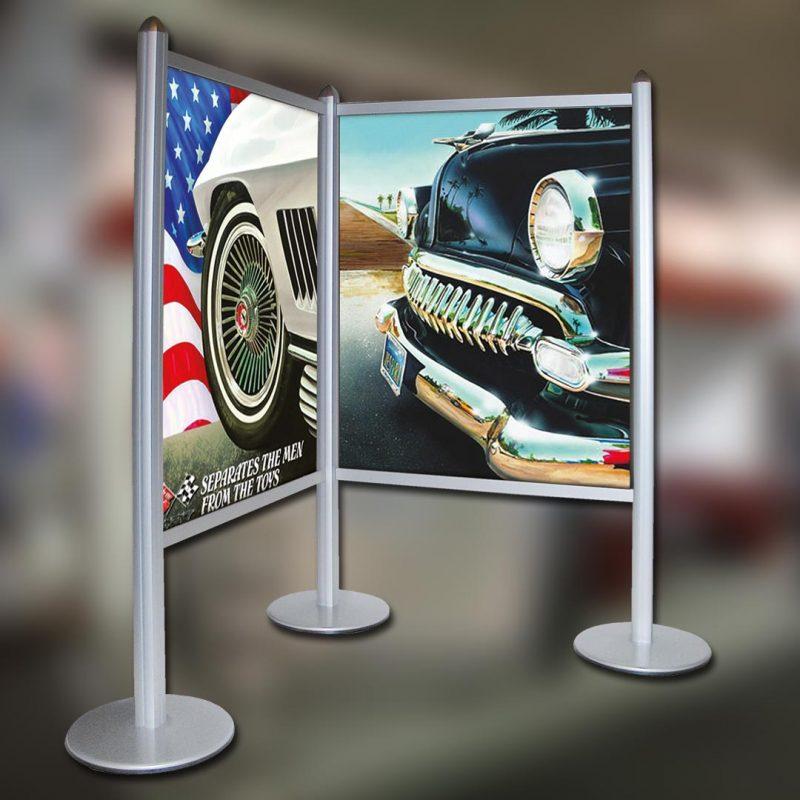 Werbesysteme Expowand Eckwand
