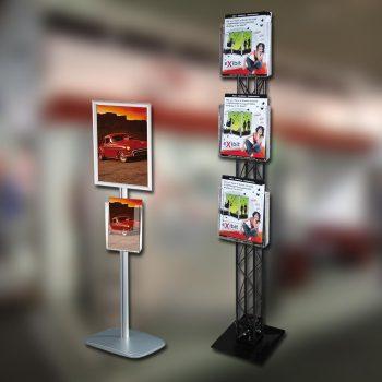 Werbesysteme Infoblatthalter / Multiblatthalter