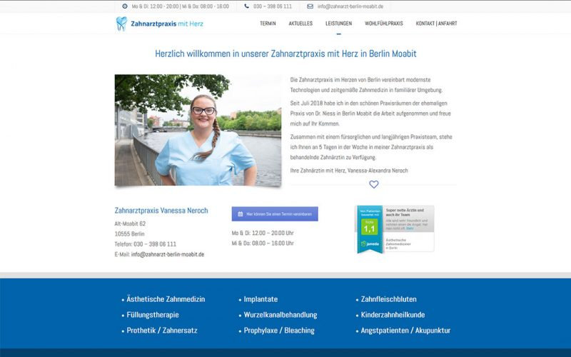 Zahnanrztpraxis Neroch Website