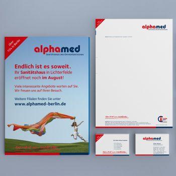 alphamed Corporate Design Geschäftsausstattung
