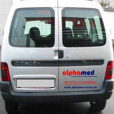 alphamed Corporate Design Autobeschriftung 3