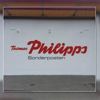 Außenwerbung beleuchtete Fassade - Thomas Philips Velten
