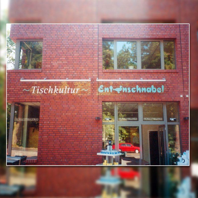 Außenwerbung Led Leuchtschilder - Tischkultur / Entenschnabel