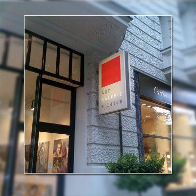 Außenwerbung Leuchtkasten & Ausstecker - Art Galerie Richter