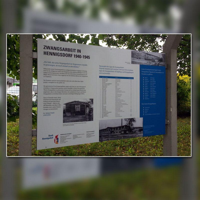 Außenwerbung, Wegeleitsysteme und Infoschilder Hennigsdorf
