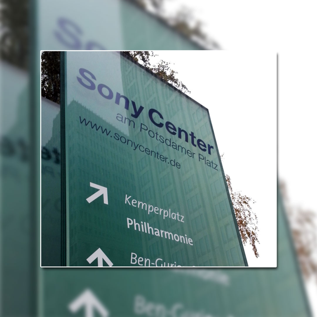 Wegeleitsysteme - Sony Center Berlin