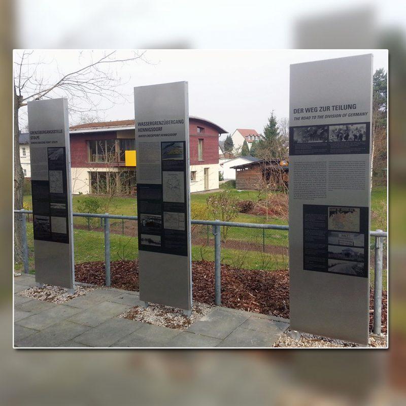 Wegeleitsystem Steelen Hennigsdorf