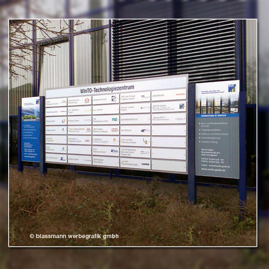 Wegeleitsystem Technologiezentrum Hennigsdorf