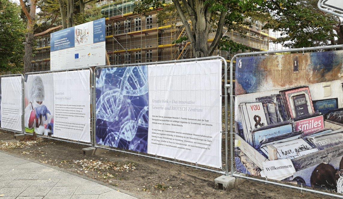 KreativWerk Hennigdorf Bauzaunbanner