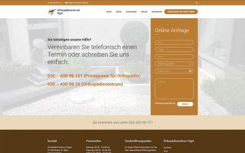Orthopädie Zentrum Tegel Website