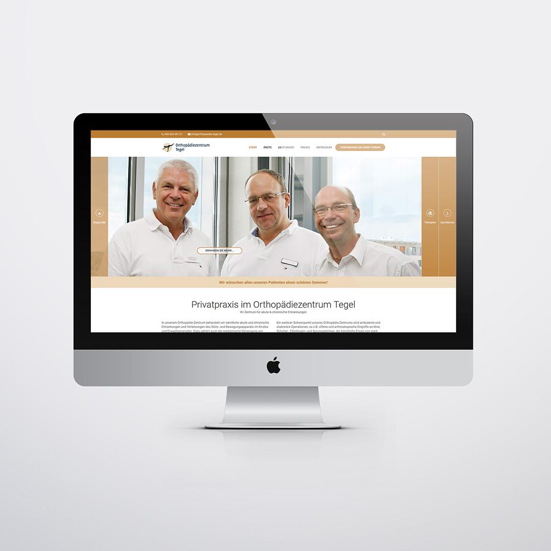 Orthoädie Zentrum Tegel Website