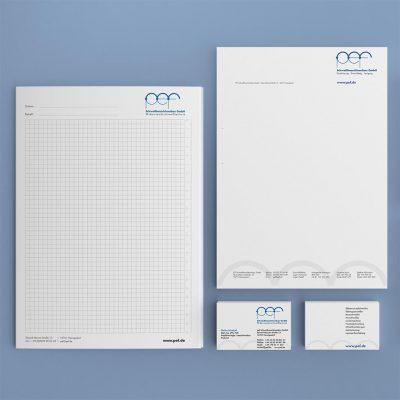 pef Corporate Design Geschäftsausstattung