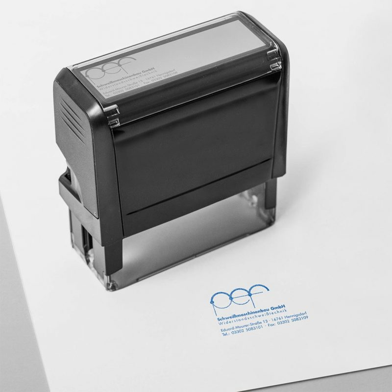 pef Corporate Design Stempel