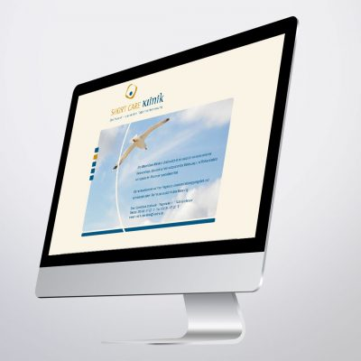 shortcare klinik logo corporate design website