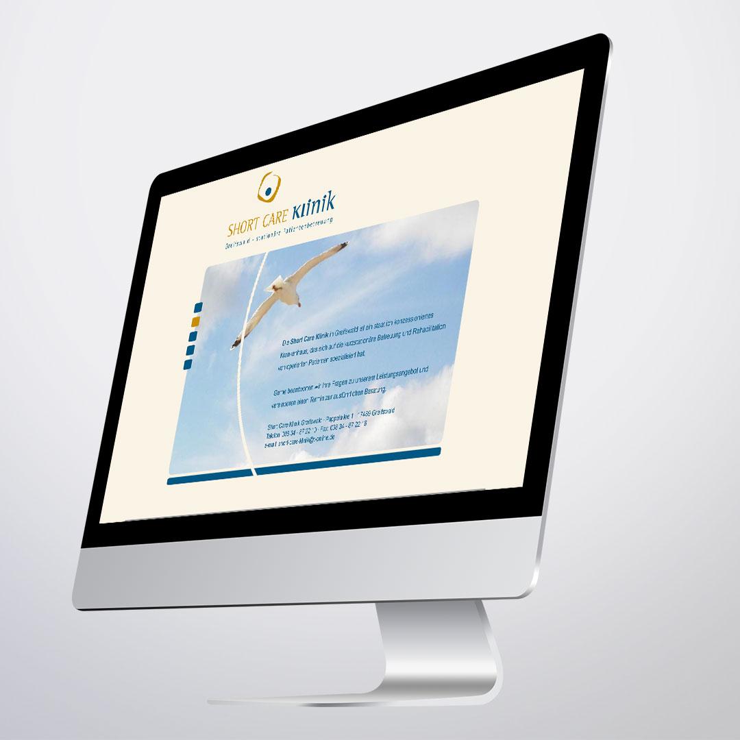 shortcare klinik logo corporate design website